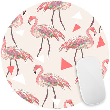Funky Flamingos Mouse Pad Decal