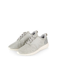 Teens Silver Star Shimmer Trainers