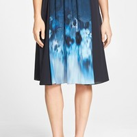 Women's Elie Tahari 'Jenna' Gathered Waist Print Silk Skirt,