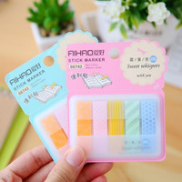 Sweet Whispers with You Self-Adhesive Memo Pad Sticky Notes Post It Bookmark School Office Supply