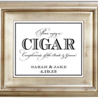 8x10 Cigar Bar Wedding Sign Customized Personalized Typography Art Print