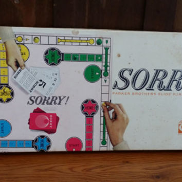 Vintage Parker Brothers 1960s Sorry Slide Pursuit Game Perfect for Game Night