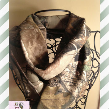 Adult Realtree Camo Infinity Scarf made with Jersey Knit Material