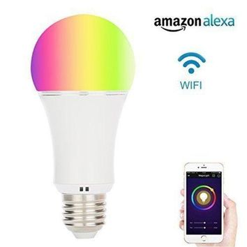 ONETOW Akface WiFi Smart LED Light Bulb, Multi Color Dimmable, Wireless Remote Control,Compatible with Alexa Echo Dot