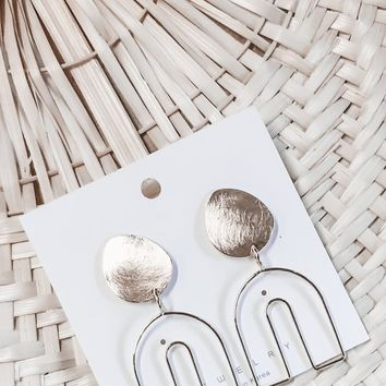 Up Your Game Mini Arch Gold Earrings