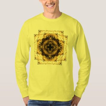Men's Basic Long Sleeve Sacred Geometry T-Shirt