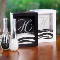 Black Unity Sand Ceremony Shadow Box Set