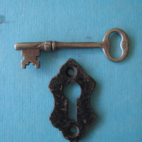 Vintage Key Hole and Skeleton Key