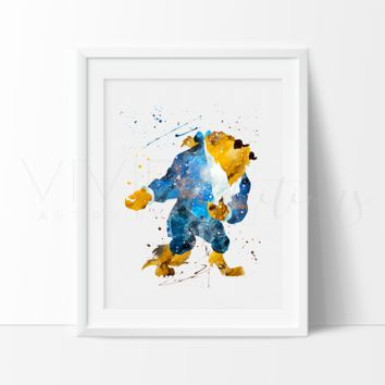 Beast, Beauty and the Beast Watercolor Art Print