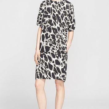 Women's ESCADA Leopard Print Jersey Shift Dress,