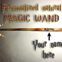 N E W -Costume Magic Wand-Personalized Wand-Fairy Wand-Natural Rustic Wood Wand- Harry Potter Inspired Party Favors-Wedding Favor-Party Bags