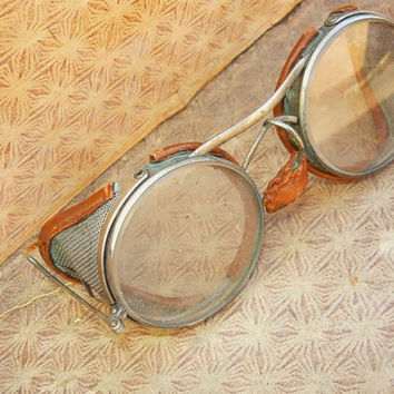 Vintage Steampunk Safety/Motorcycle Goggles