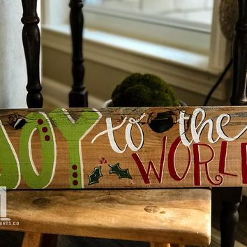 Joy To The World on Reclaimed Wood for Christmas