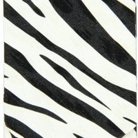 Boston International  Black-White Zebra Pocket Tissue Holder