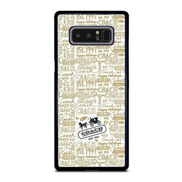 COACH NEW YORK COLLAGE Samsung Galaxy Note 8 Case Cover