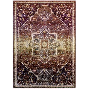 Success Kaede Transitional Distressed Vintage Floral Persian Medallion 8x10 Area Rug
