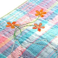 SPRING in PASTELS, Textile Art, Quilting Art, Wall Hanging