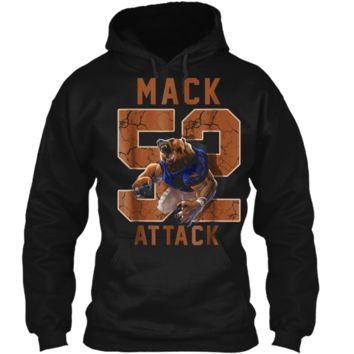 Mack Attack 52 Chicago Football  New Player Pullover Hoodie 8 oz