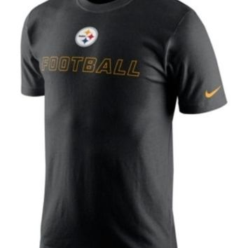 DCCKG8Q NFL Pittsburgh Steelers Nike Men's Black Training Day T-Shirt