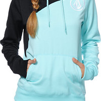 Volcom Girls Aluka Mint Pullover Hydro Tech Fleece Jacket at Zumiez : PDP