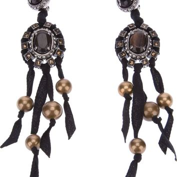 Lanvin gem stone earrings