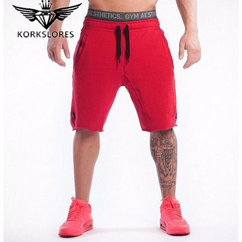 Mens Fitness Shorts Fashion Leisure Gym Bodybuilding Workout Jogger CrossFit MMA