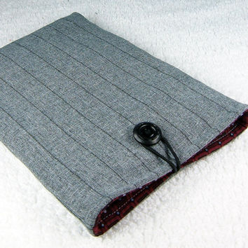 Kindle padded case - Kobo Nook Color Galaxy Tab Kindle 1 2 3 4 Kindle Fire sleeve - Classy gray black stripes sleeve - Étui