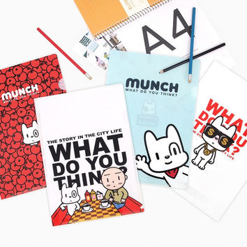 Munch translucent document file folder set