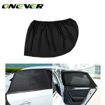 Onever Auto Car Side Window Sun Shade Black Mesh Solar Protection Covers Visor Shield Sunshade UV Protection size L M