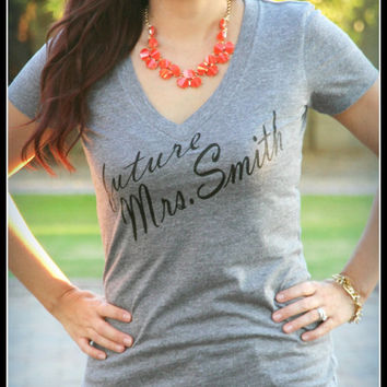 Future Wifey Shirt, Wifey Shirt, Bridal Shower Gift, Wedding, Bride Shirt, Bachelorette Gift, Future Mrs. Bride To Be Classy Fitted Shirt