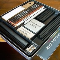 Prismacolor Premier 25 Piece Charcoal Sketch Set In Reusable Metal Tin