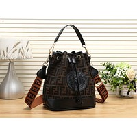 FENDI Hot Popular Women Shopping Handbag Tote Leather Shoulder Bag Crossbody Satchel Black