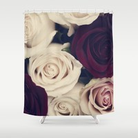 rose bouquet Shower Curtain by Ingrid Beddoes