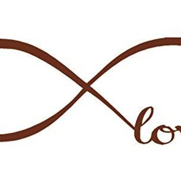 Brown 12'' X 33'' Wall Stickers, Franterd Bedroom Decor Infinity Symbol Word Love Vinyl Art Decal
