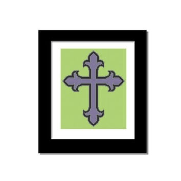 Cross Stitch Pattern - Counted Cross Stitch Pattern PDF Instant Download Gothic Cross Celtic Style Modern Cross Stitch Pattern