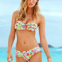 Floral Push-up Bandeau Top