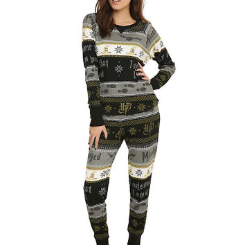 Harry Potter Deathly Hallows Girls Thermal Sleep Set