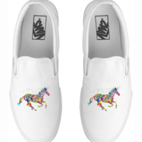 Colorful Horse Vans Classic Slip-on shoes