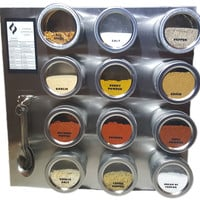 Magnetic Spice Rack (12, 24 or 36 Jars with Labels)
