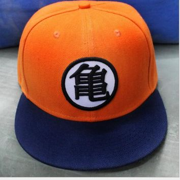 Anime Dragonball Z Son Goku Dragon ball Orange hat cap hip hop rap punk baseball hat cosplay costume