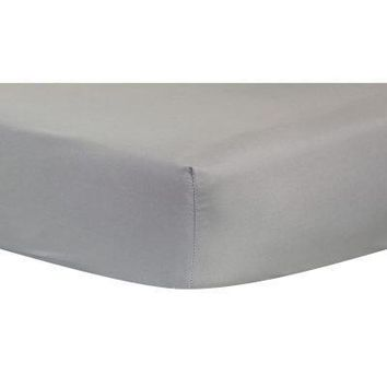 Gray Fitted Crib Sheet