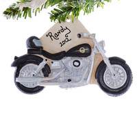 Motorcycle Christmas Ornament - Personalized motorcycle ornament - biker ornament - personalized Christmas ornament