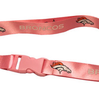 Denver Broncos Lanyard - Breakaway with Key Ring - Pink