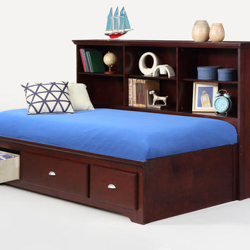 Full Size Ethan Merlot Lounge Bed
