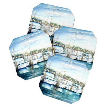 Rosie Brown Dinner Key Marina Coaster Set