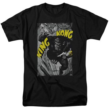 King Kong - Crushing Poster Short Sleeve Adult 18/1