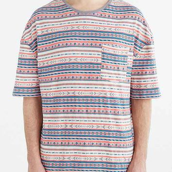 Koto Oversized Jacquard Stripe Tee- Cream