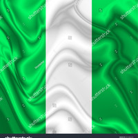 Nigeria Waving Silk Flag Digital Illustration © BluedarkArt