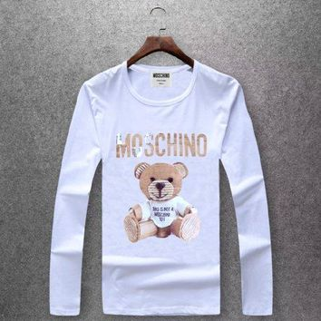 Moschino  Round collar long sleeved T - shirt