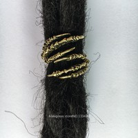 Free shipping 2PCS/Lot Antique golden Claw Dreadlock Dread Hair Clip Beads for thick dreadlock